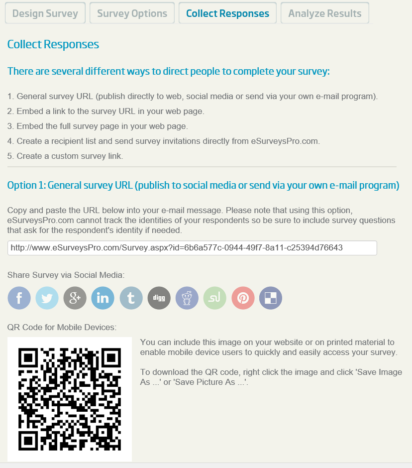 collect online survey responses