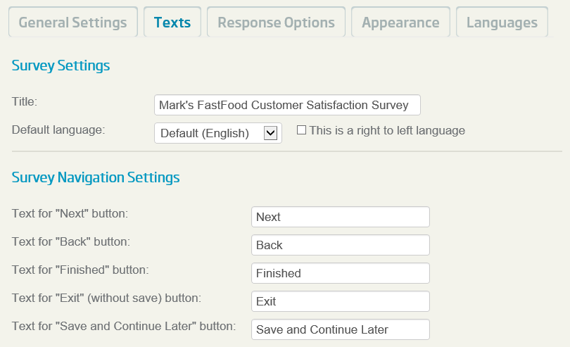 Tutorial - Creating and Deploying Surveys - Entering a Survey Title
